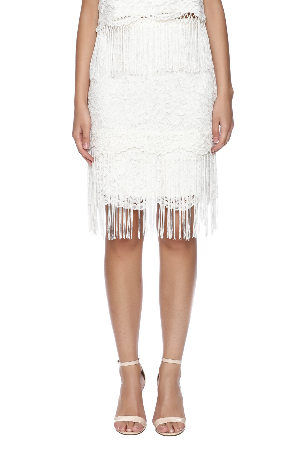 Ark & Co. Fringe Lace Skirt - Side Cropped Image