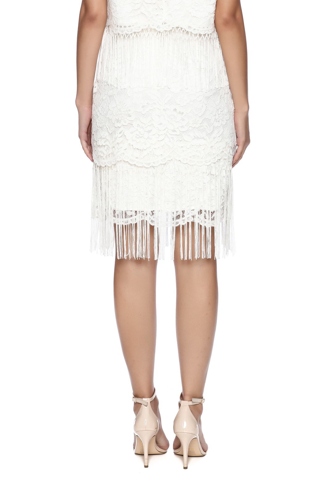 Ark & Co. Fringe Lace Skirt - Back Cropped Image