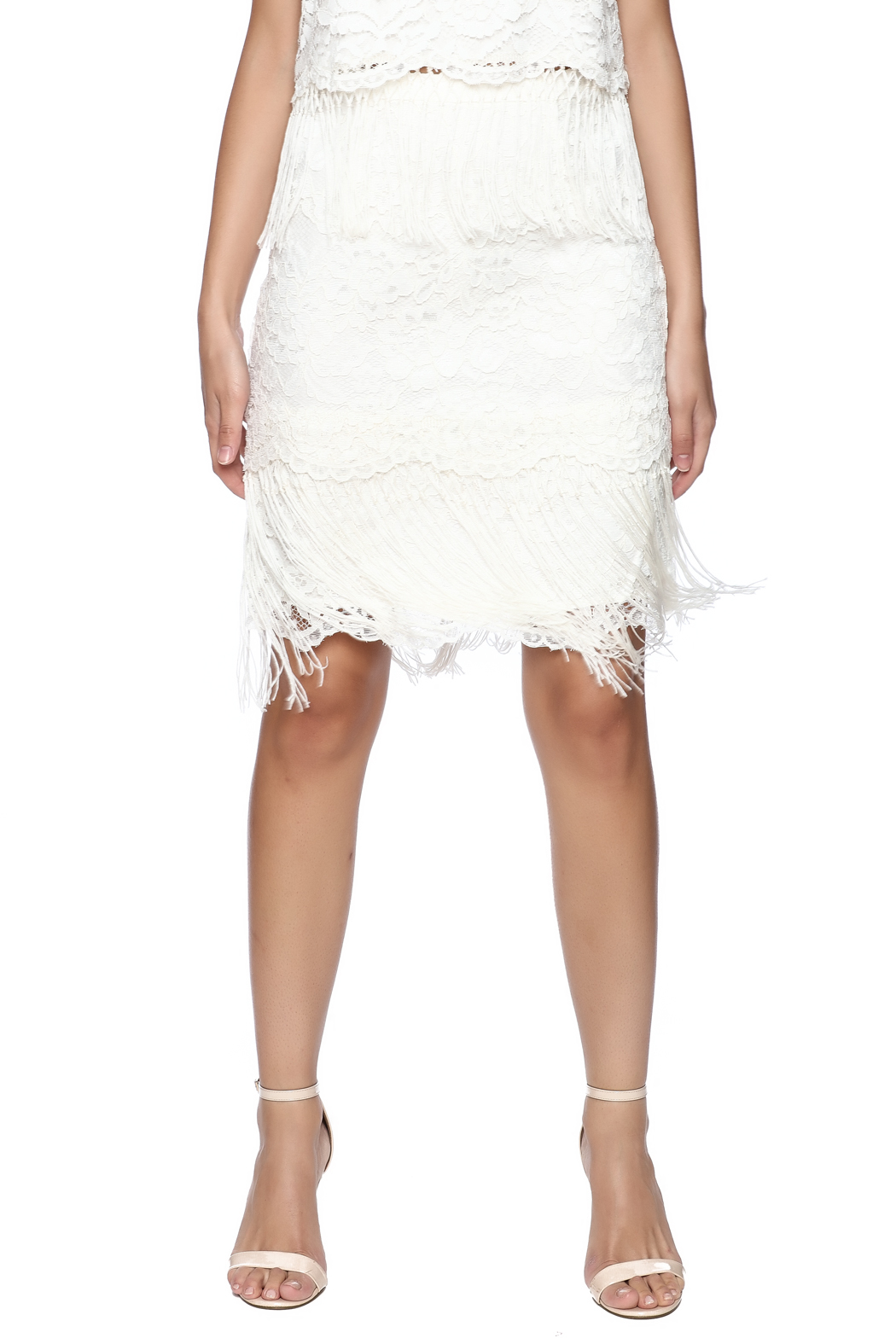 Ark & Co. Fringe Lace Skirt - Main Image