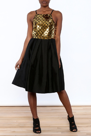 Ark & Co. Gold Sequin Knee Dress - Product Mini Image