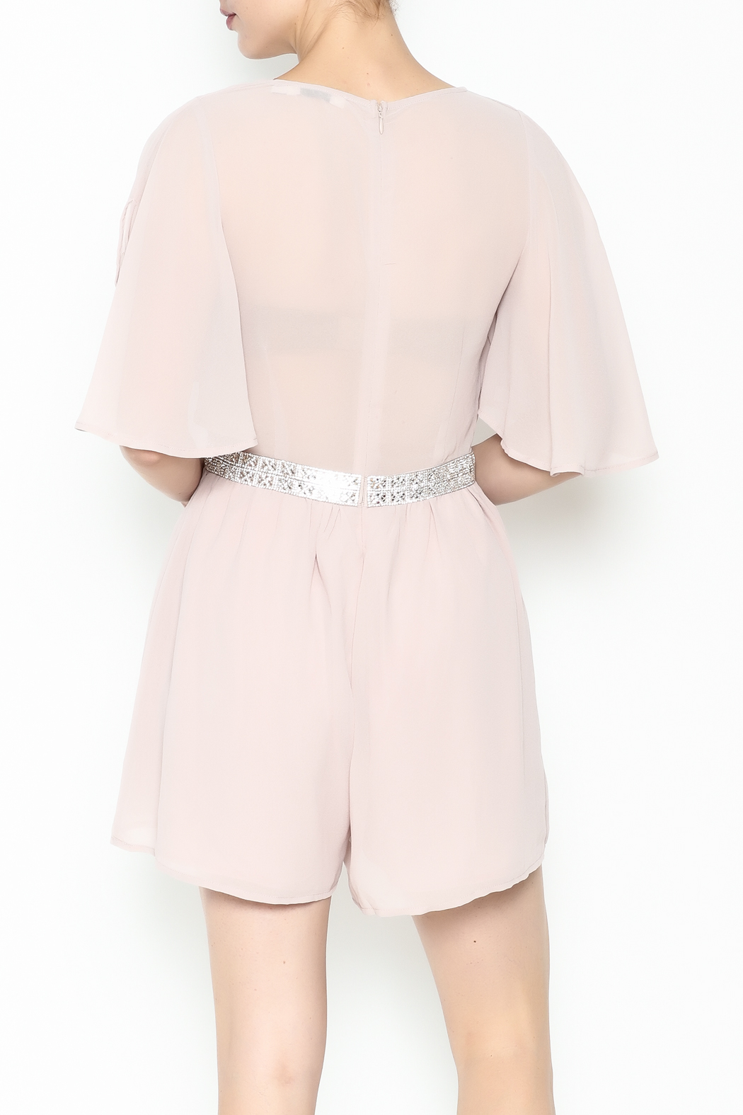 Ark & Co. Jewel Waist Romper - Back Cropped Image