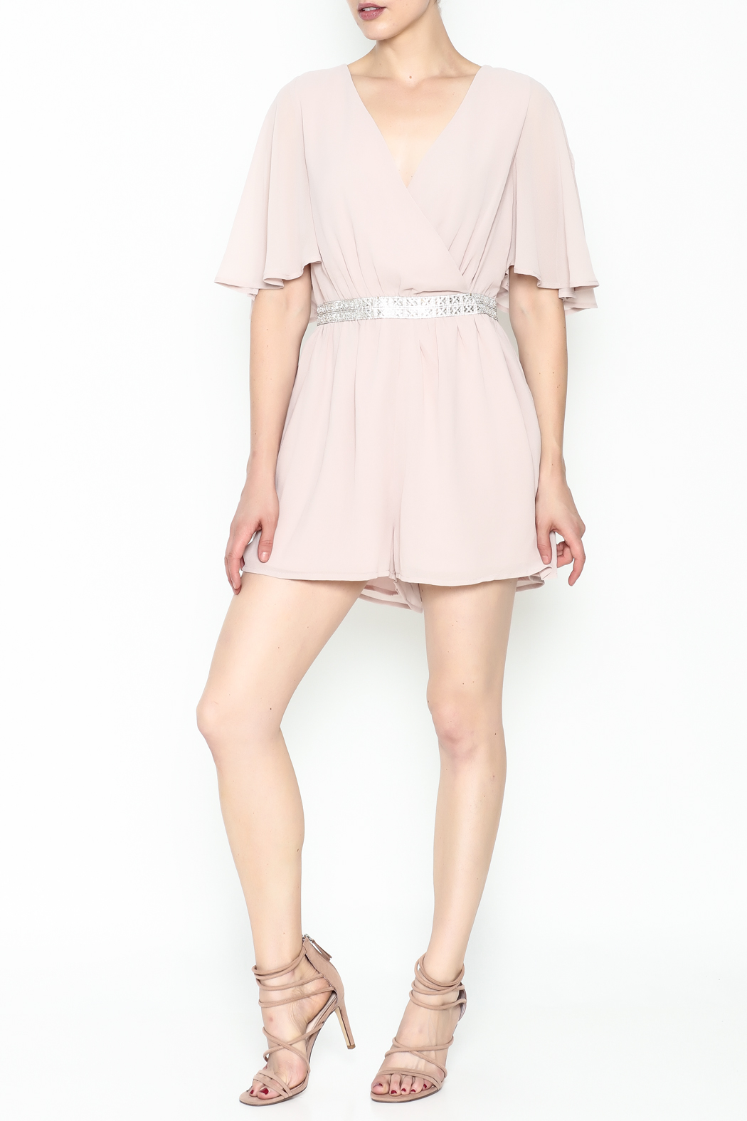 Ark & Co. Jewel Waist Romper - Side Cropped Image