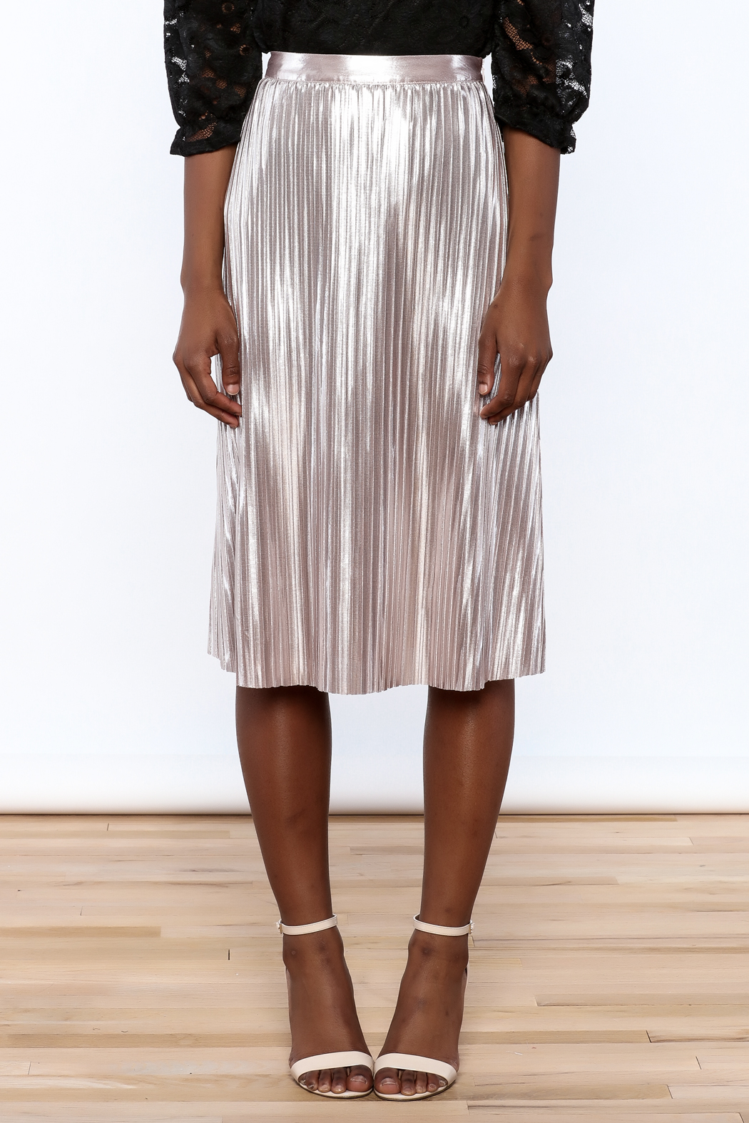1d8907c8c5 Ark & Co. Metallic Pleated Skirt from Florida by Walter Green ...