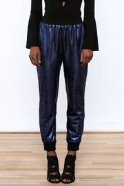 Ark & Co. Navy Sequin Jogger - Side cropped