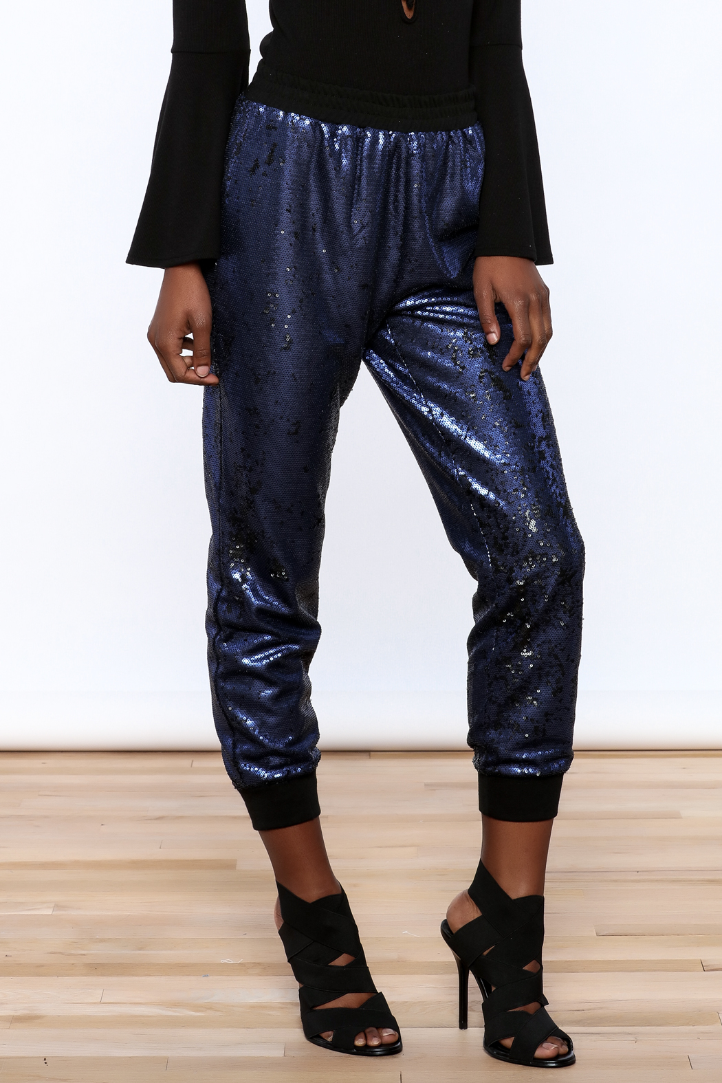 Ark & Co. Navy Sequin Jogger - Main Image