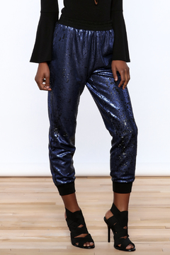Shoptiques Product: Navy Sequin Jogger