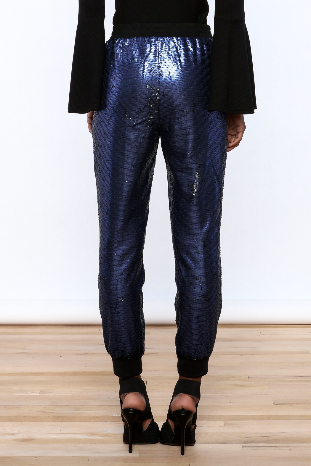 Ark & Co. Navy Sequin Jogger - Back Cropped Image