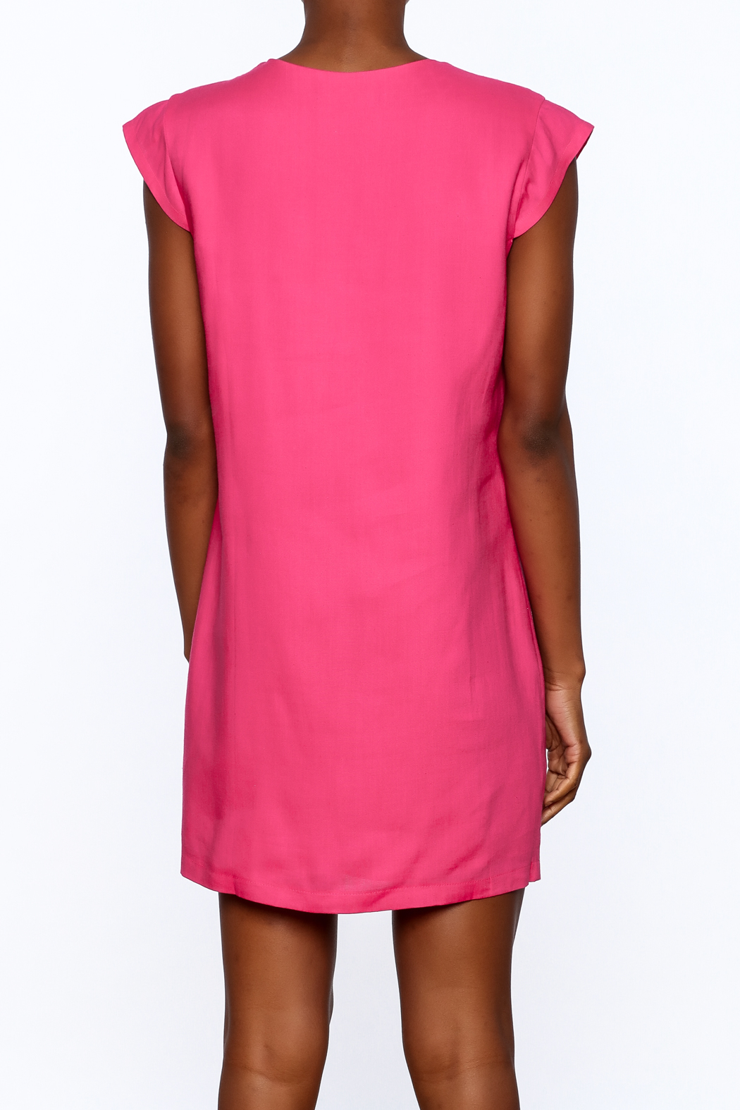 Ark & Co. Pink Tunic Dress - Back Cropped Image