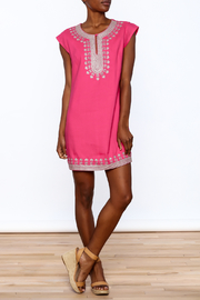 Ark & Co. Pink Tunic Dress - Front full body