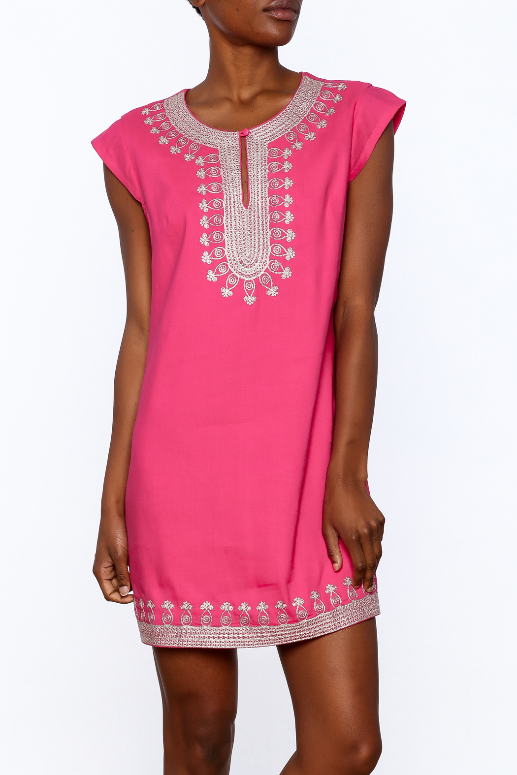 Ark & Co. Pink Tunic Dress - Front Cropped Image