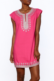 Ark & Co. Pink Tunic Dress - Front cropped