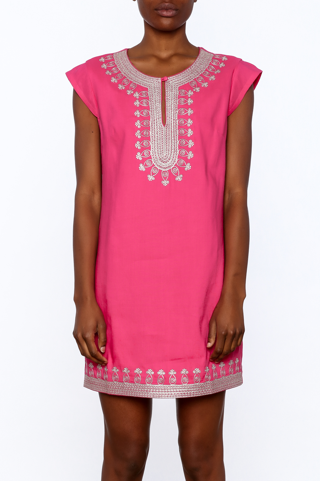 Ark & Co. Pink Tunic Dress - Side Cropped Image