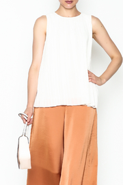 Ark & Co. Pleated Sleeveless Blouse - Product Mini Image