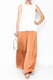 Ark & Co. Pleated Sleeveless Blouse - Side cropped