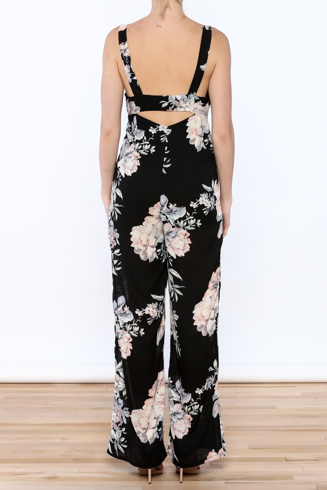 Ark & Co. Pretty In Peonies Jumpsuit - Back Cropped Image
