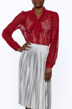 Shoptiques Product: Red Lace Blouse