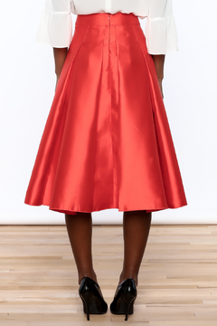 Shoptiques Product: Red Pleated Midi Skirt