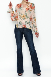 Ark & Co. Sheer Floral Blouse - Side cropped