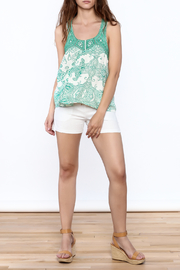 Ark & Co. Teal Paisley Tank - Front full body