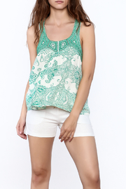 Ark & Co. Teal Paisley Tank - Front cropped
