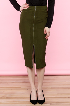 Shoptiques Product: Green Midi Skirt