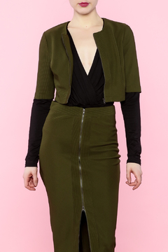 Shoptiques Product: Olive Cropped Top