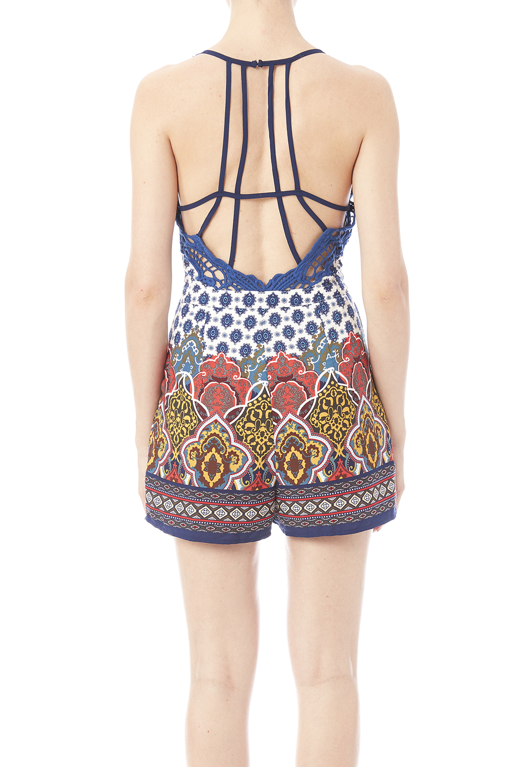Ark & Co. The Patrice Romper - Back Cropped Image