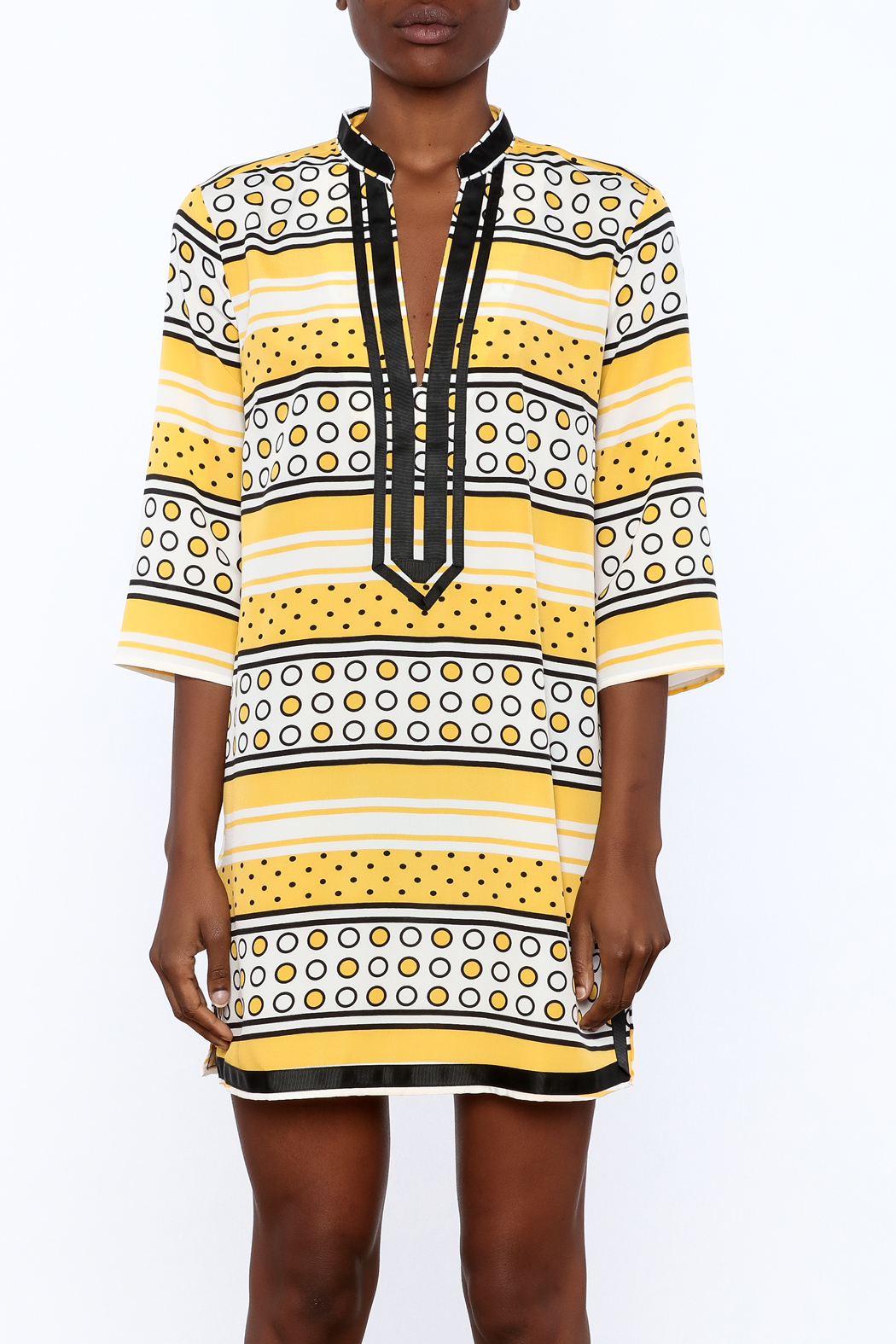 Ark & Co. Yellow Dot Tunic - Side Cropped Image