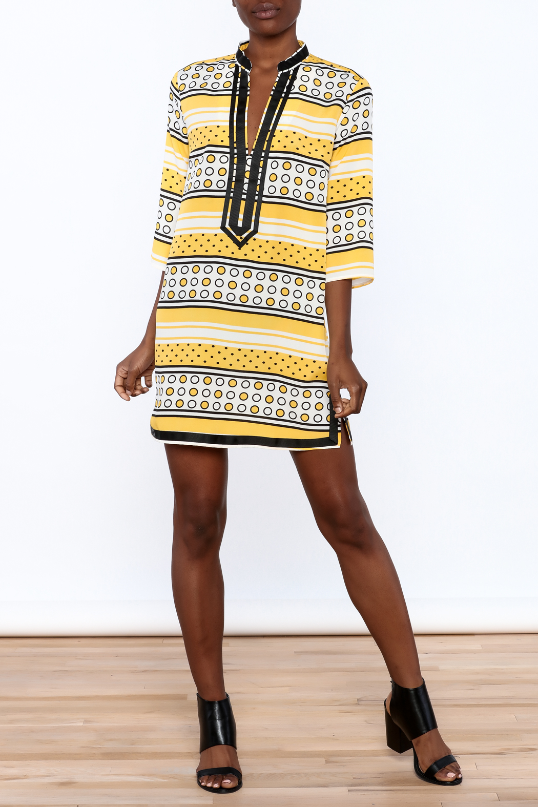 Ark & Co. Yellow Dot Tunic - Front Full Image
