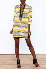 Ark & Co. Yellow Dot Tunic - Front full body