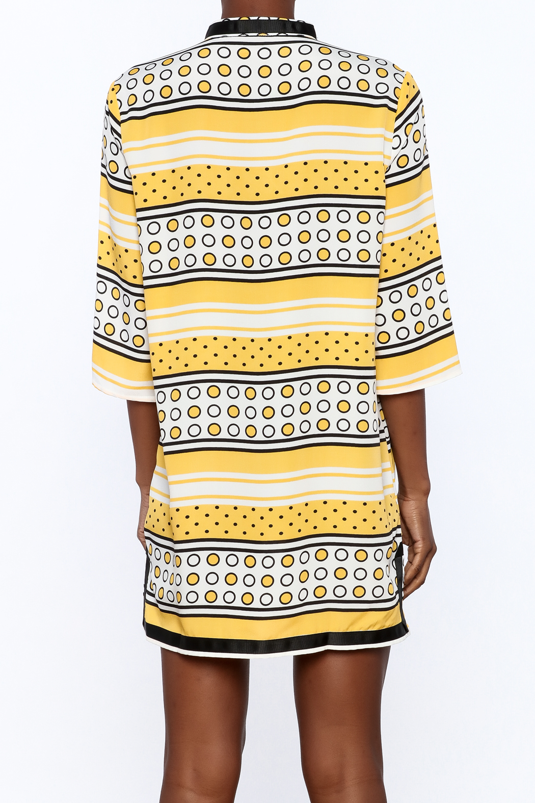 Ark & Co. Yellow Dot Tunic - Back Cropped Image