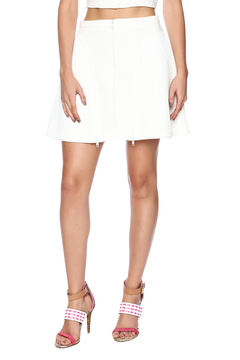 Shoptiques Product: Zipper Mesh Flare Skirt