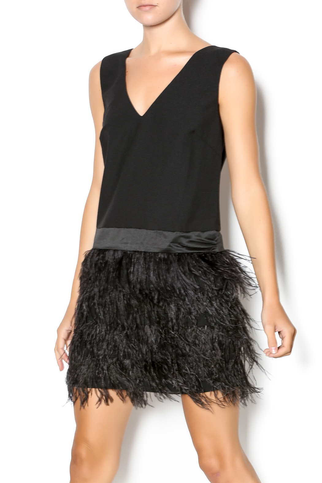Ark Amp Co Black Feather Bottom Dress From New York By Dor