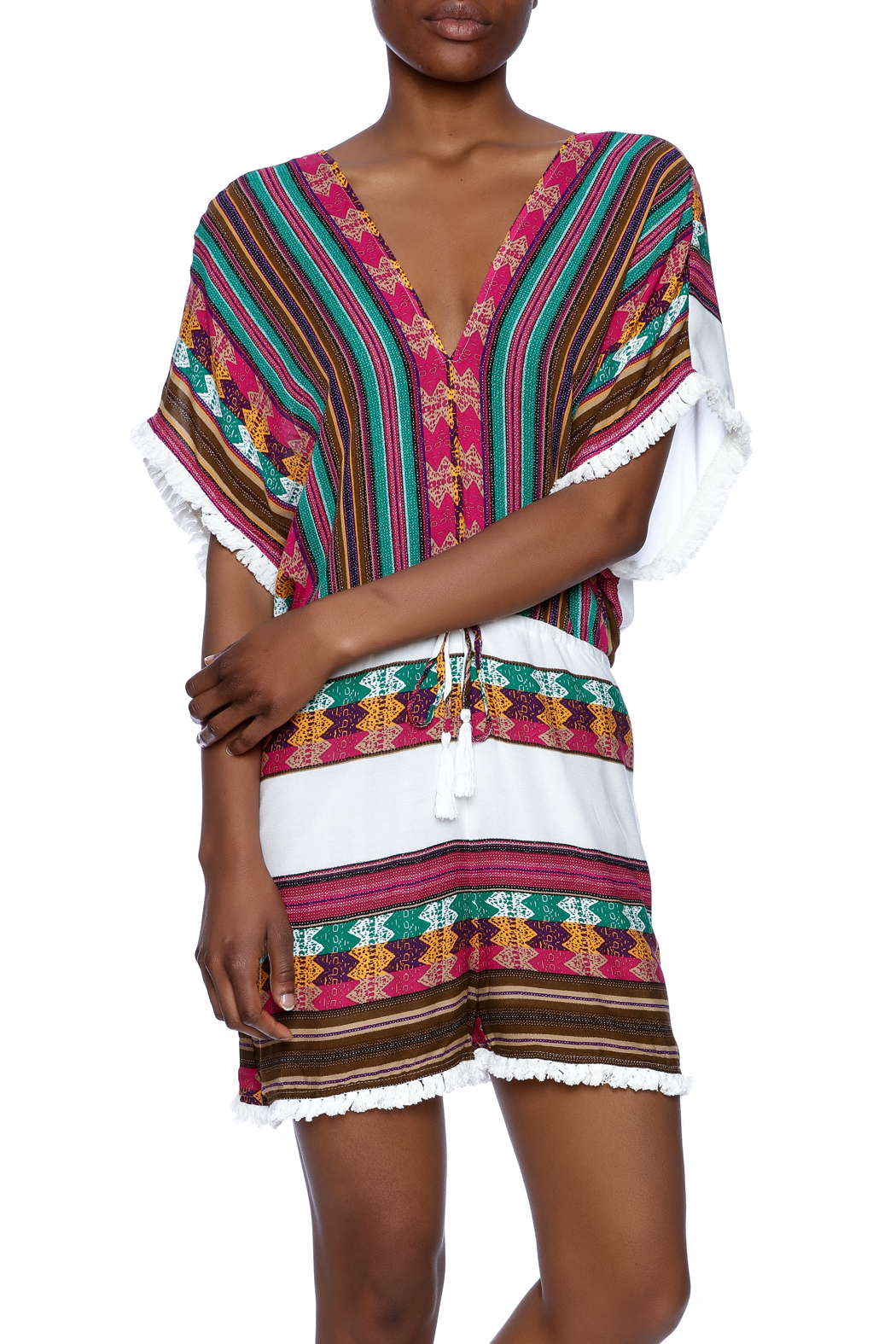Ark & Co. Multicolor Romper - Front Cropped Image