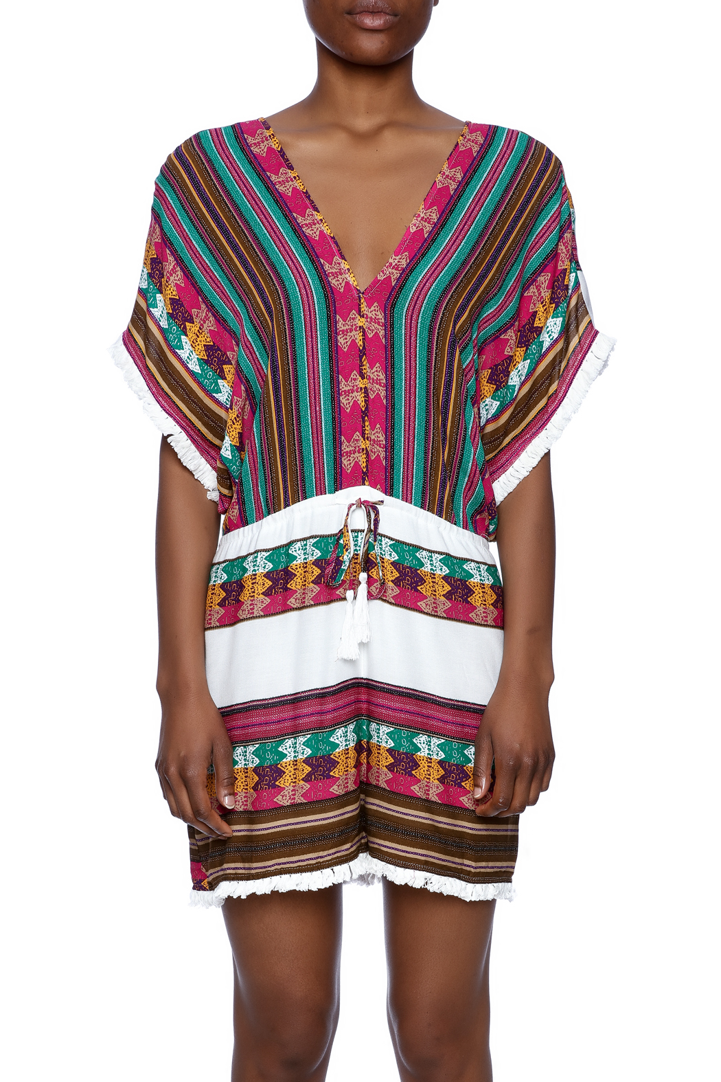Ark & Co. Multicolor Romper - Side Cropped Image