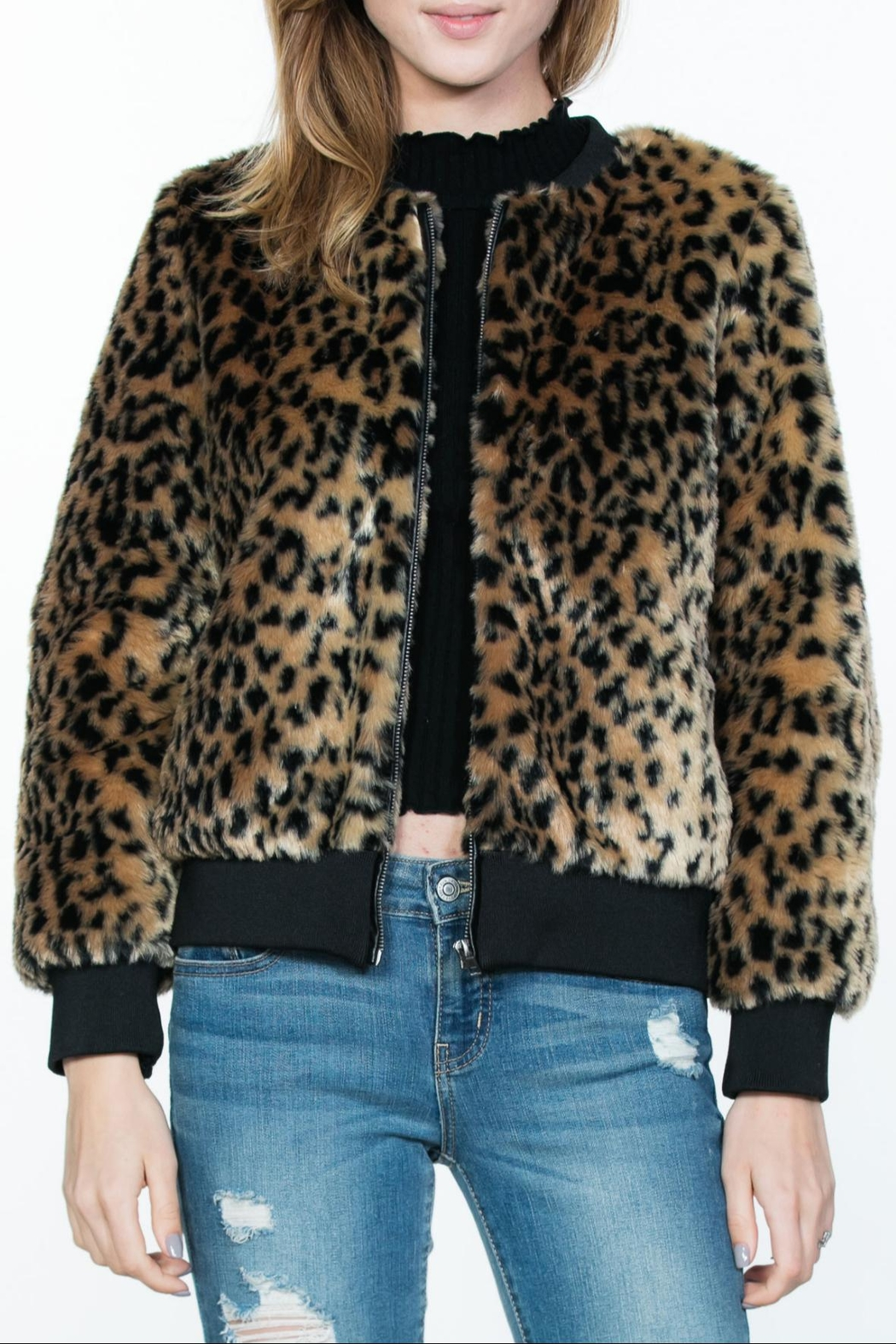 Ark & Co. Leopard Animal-Print Jacket - Main Image