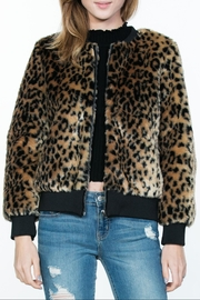 Ark & Co. Leopard Animal-Print Jacket - Front cropped