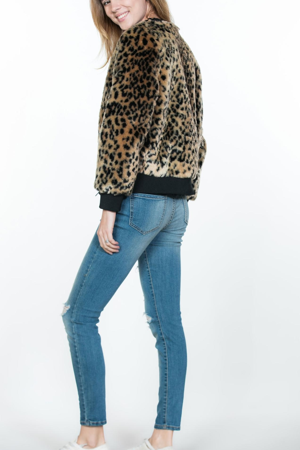 Ark & Co. Leopard Animal-Print Jacket - Front Full Image