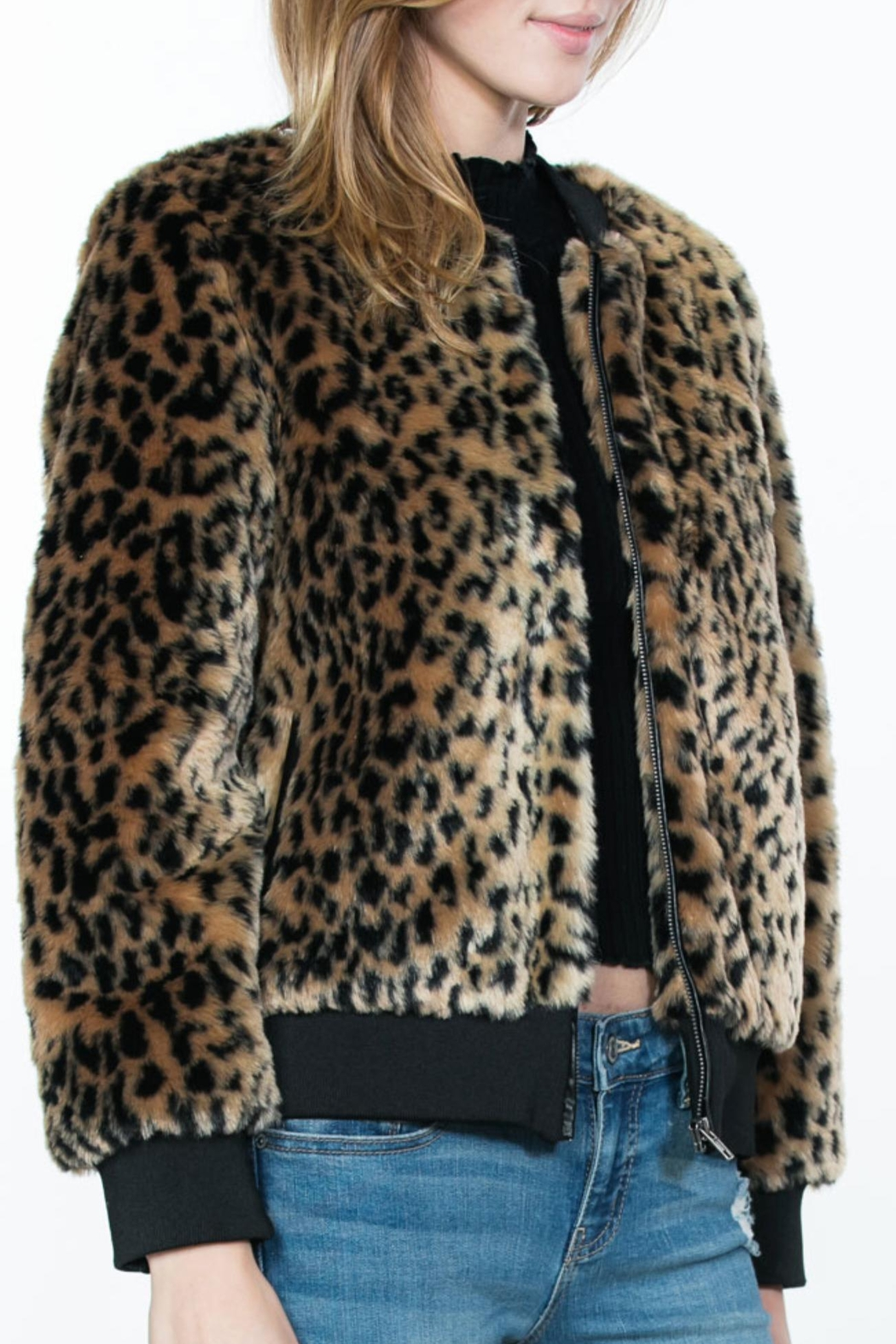 Ark & Co. Leopard Animal-Print Jacket - Side Cropped Image