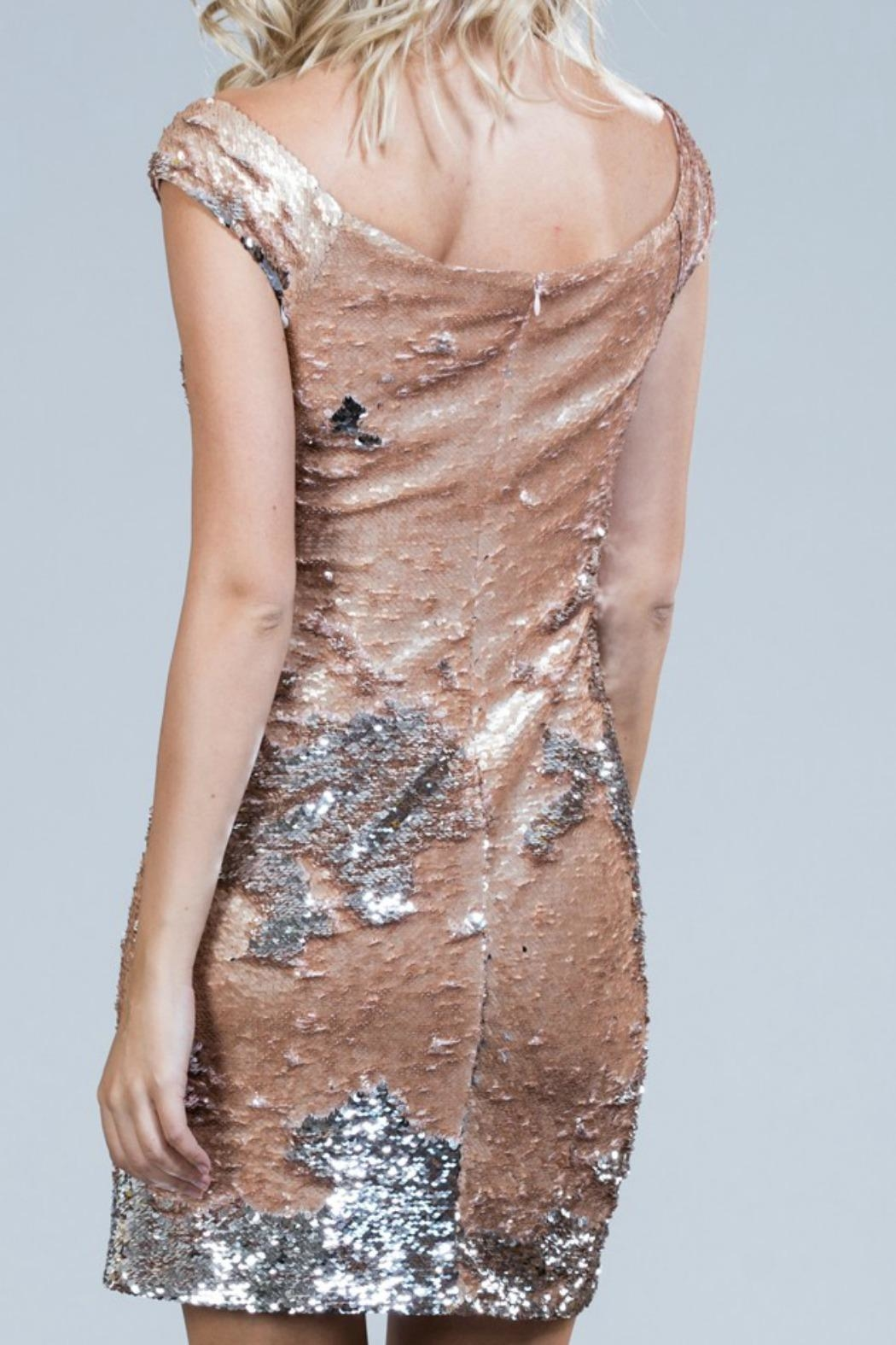 Ark & Co. Blush Sequin Dress - Side Cropped Image
