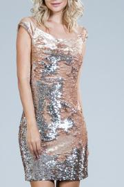 Ark & Co. Blush Sequin Dress - Front cropped