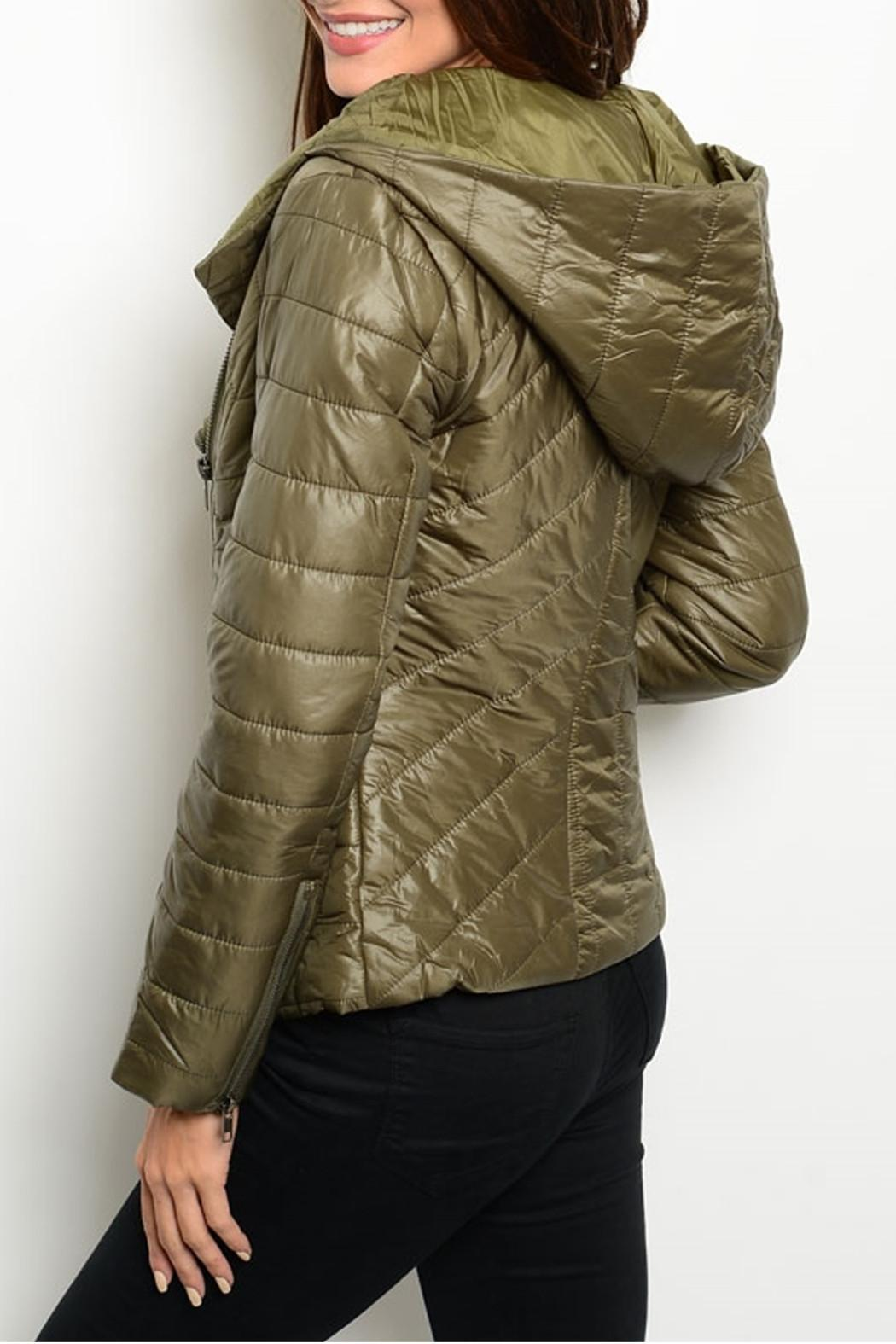 Ark & Co. Bomber Hood Jacket - Front Full Image