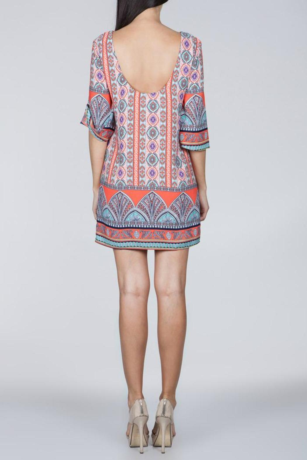 Ark & Co. Coral Printed Dress - Side Cropped Image