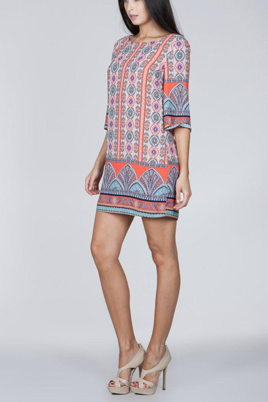 Ark & Co. Coral Printed Dress - Front Full Image