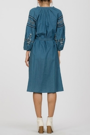 Ark & Co. Embroidered Denim Dress - Side cropped