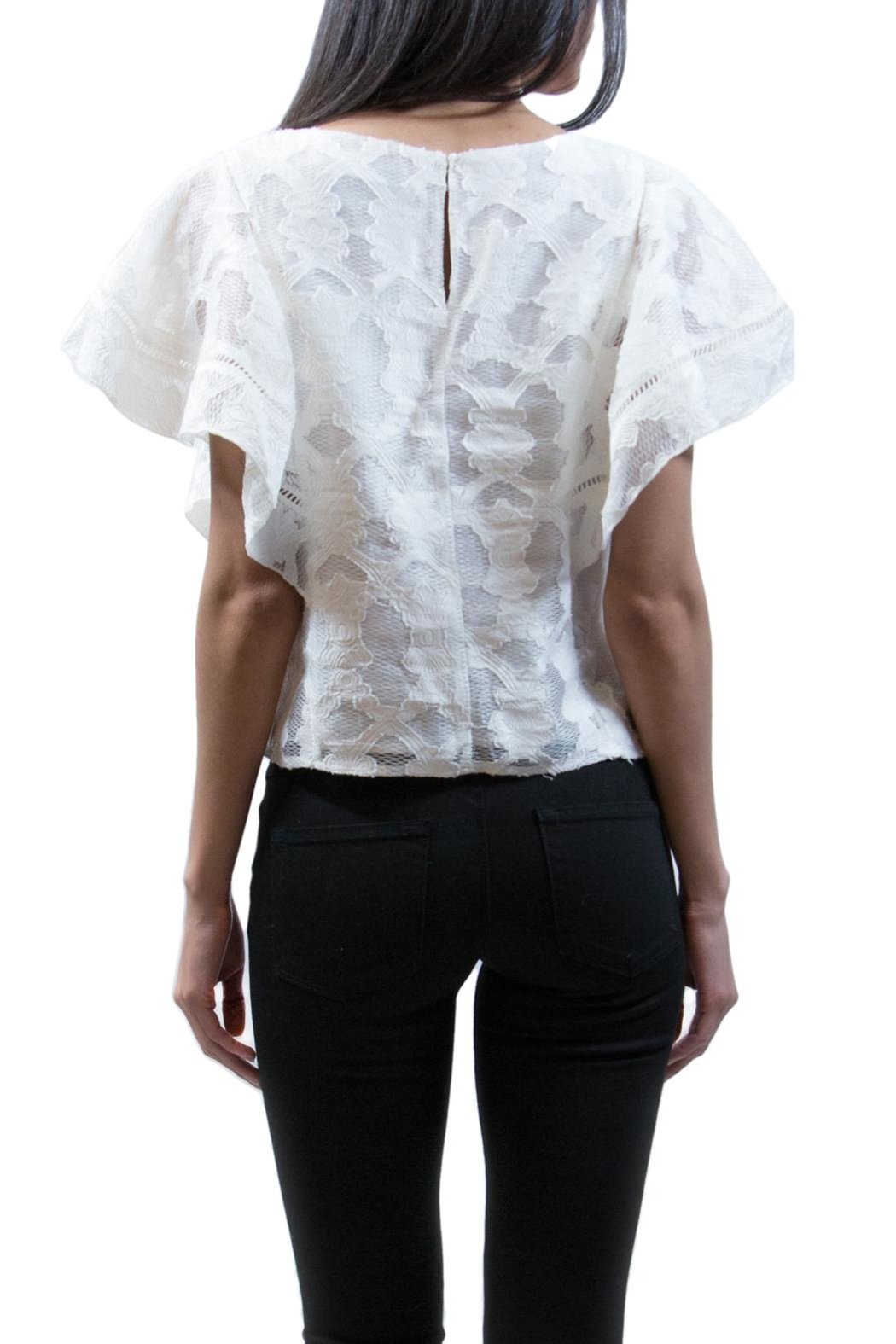 Ark & Co. Embroidered Lace Top - Side Cropped Image