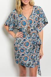 Ark & Co. Floral Blue Dress - Product Mini Image