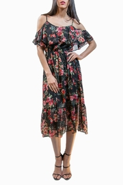 Ark & Co. Floral Cold-Shoulder Dress - Product Mini Image