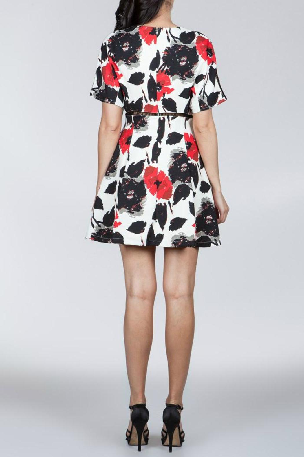 Ark & Co. Floral Cutout Dress - Side Cropped Image
