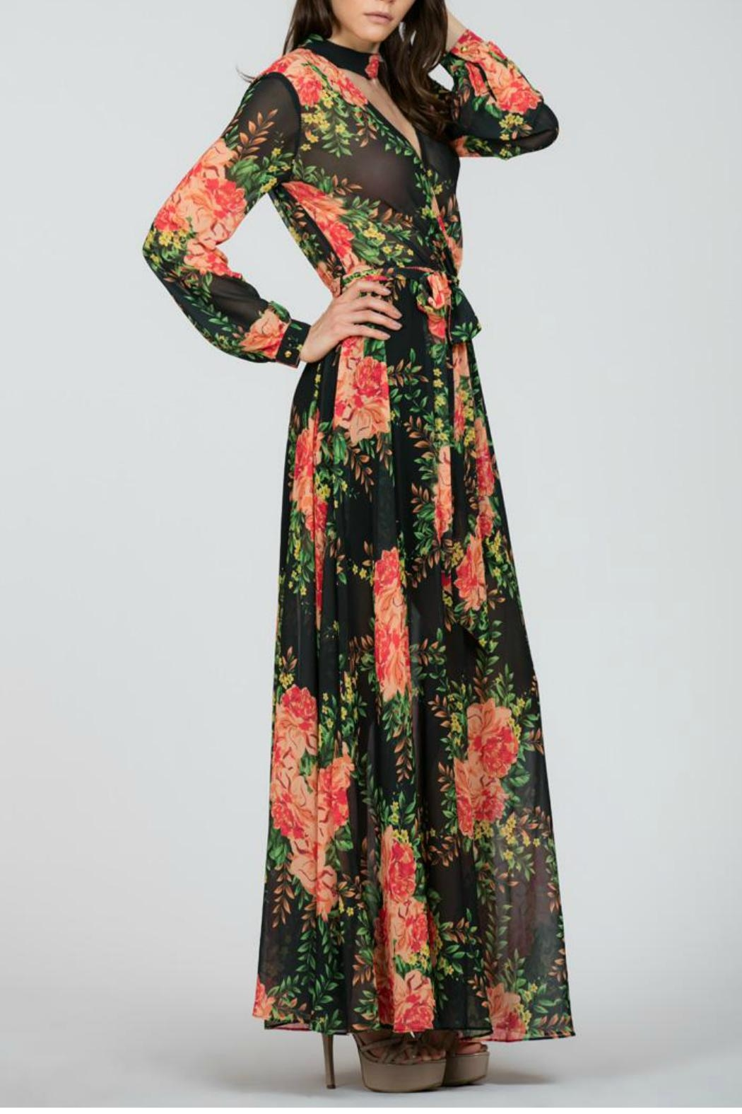 Ark & Co. Floral Maxi Dress - Back Cropped Image